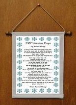 EMT Volunteer Prayer - Personalized Wall Hanging (326-1) - $19.99