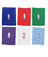 Basketball NBA Logo Terry Armband - Multiple Colors- Blue Red Green Purp... - $7.77+