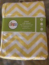 Baby Circo Chevron Yellow White Woven Cotton Fitted Crib Sheet Girl/Boy  - $247,13 MXN