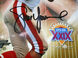 MONTANA, RICE & YOUNG / AUTOGRAPHED 16 X 20 SUPERBOWL MVP PHOTO / PLAYER HOLOS image 4