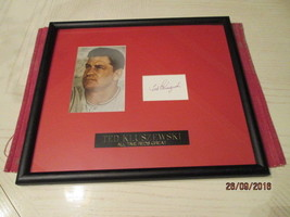 "TED KLUSZEWSKI Signed 3""x5"" Index Card Framed & Matted 15x13 -JSA Authen... - $89.00"