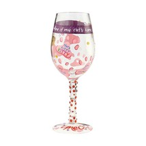 """Love My Cat """"Designs by Lolita"""" Wine Glass 15 oz 9"""" High  Gift Boxed image 2"""