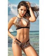 Mapale Leopard Print Keyhole Bikini w/ Cheeky Back Swimsuit 6540 - $37.99