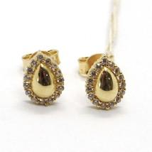 Gelbgold Ohrringe 18K, Tropfen mit Zirkonia Kubische, Made in Italien, Gold 750 image 1