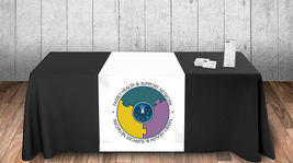 Custom Table Runner wih logo 3'x6' customize yours for free with any logo or Txt image 3