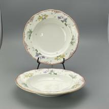 2 mikasa touch of spring salad bowls bone china Japan  cap 15 soup bowls - $14.84