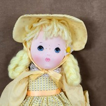 "Applause Daisy soft body doll vintage yellow dress hair Piorette 16""  image 2"