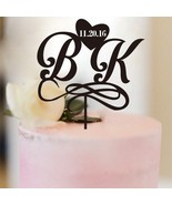 Buythrow® Personalized Wedding Cake Topper Bride And Groom Initials Mono... - $26.41