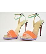 NIB Christian Louboutin Discoport glitter heel Leather sandals IT 36.5; ... - $627.29