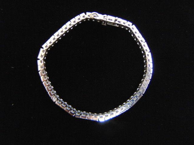 Womens Vintage Estate 14k White Gold Tennis Bracelet w/ Diamonds  15.1g E3520