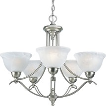 Avalon Collection Brushed Nickel Chandelier Light Kitchen Hall P4068-09 ... - $231.06