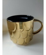Starbucks 2019 Christmas Gold Mermaid Scales Coffee Cup Limited Ceramic Mug - $19.34