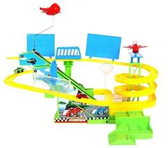 """ETS Toys Vehicle Car Race Racing Track Park Play Set 19.6"""" (Batteries Not Includ"""