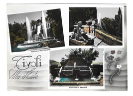 Italy Tivoli Villa D'Este Gardens Fountains Alterocca Terni Multiview 4X6 Postca - $5.70