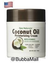 4 XCoconut Oil Moisturizing Cream Vitamin E/Dry Sensitive Skin/Spa Natur... - $17.77