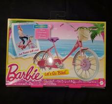 Barbie Let's Go Bike  Accessory Pack 2013 Vehicle Carrier basket   retired - $29.96