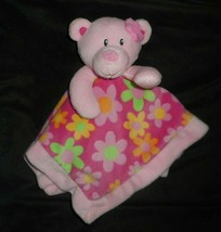First Impressions Baby Pink Teddy Bear Security Blanket Stuffed Plush Lovey Toy - $36.47