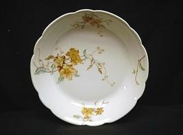 Vintage Haviland & Co Limoges Soup Bowl Brown Floral Blue Green Leaves B... - $14.84
