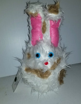 F4 * Professional White w/ Brown Spots Muppet Style Ventriloquist Bunny Puppet - $15.00