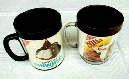 2 Nabisco Vintage Plastic Cups Mug West Bend & Eagle Thermo-Serv Pinwhee... - $18.37
