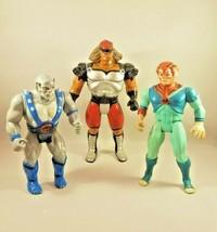 1985 Vintage Thundercats Action Figure Panthro, Grune, Tygra Lot LJN INC... - $39.60