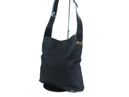 Authentic CELINE MACADAM Canvas, Leather Black Shoulder Bag CS8864L - $129.00