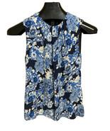 Tory Burch White & Blues Silk Camisole Tank Top Gathered Neckline Size 4 - $23.23