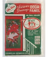 "NOS 1969 SEALED 72"" Seasons Greetings Door Panel Star Band Co. Holiday D... - $24.90"