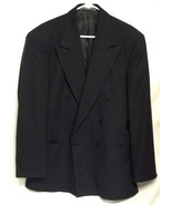 Haggar Clothing Co Mens Jacket Blazer Black Dry Clean Only P - $9.89