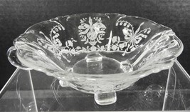 Antique Heisey Footed Handled Open Jelly Jam Dish * Orchid Pattern - $19.94