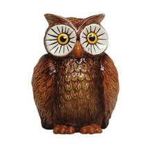 PTC 6 Inch Owl Bird Savings Piggy/Coin/Money Bank, Brown and White - $26.13