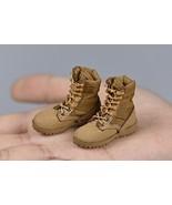 1/6 Scale Female Soldier Sand Combat Lace-Up Shoes Boots 4.5cm Fit OB Pe... - £28.87 GBP