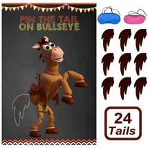 Toy Inspired Story Party Supplies, Pin The Tail On Bullseye Party Game L... - $12.79