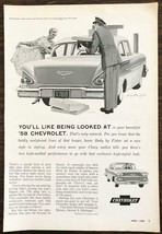 1958 Chevrolet Biscayne Ad You'll Like Being Looked At Illustrator Austin Briggs - $10.62