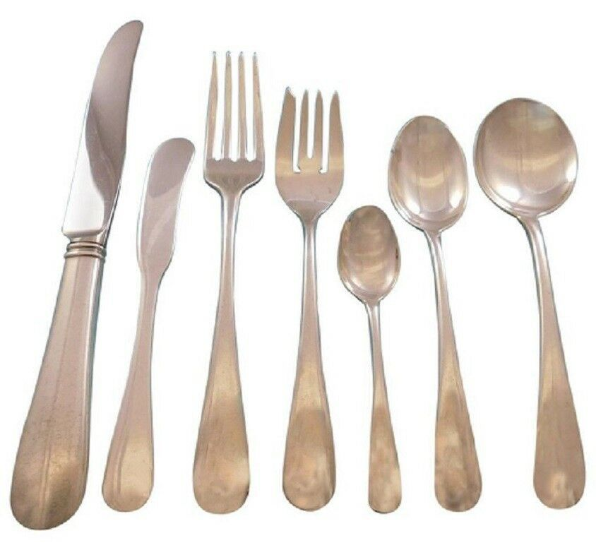 Primary image for French Colonial by Blackinton Sterling Silver Flatware Set for 8 Service 62 pcs