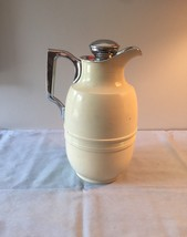 Vintage 60s thermal metal coffee decanter/pitcher with corked stopper image 2