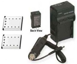 2 Two Batteries + Charger for Olympus X-600 X-730 X-735 X-750 X-785 X-790 X-795 - $33.23