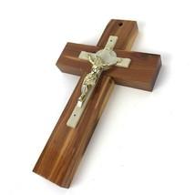 Vintage Wood Cross CRUCIFIX RELIGIOUS Wall Hanging Reno Nevada Mid century - $24.74