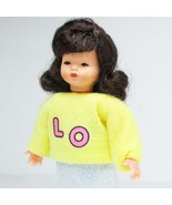 Dressed Little Girl Yellow sweatshirt Caco 3107g Flexible Dollhouse Mini... - $23.18