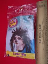Rubies Dog Costume Pet Halloween Holiday Rocker Wig M/L Black Animal Hea... - $2.84