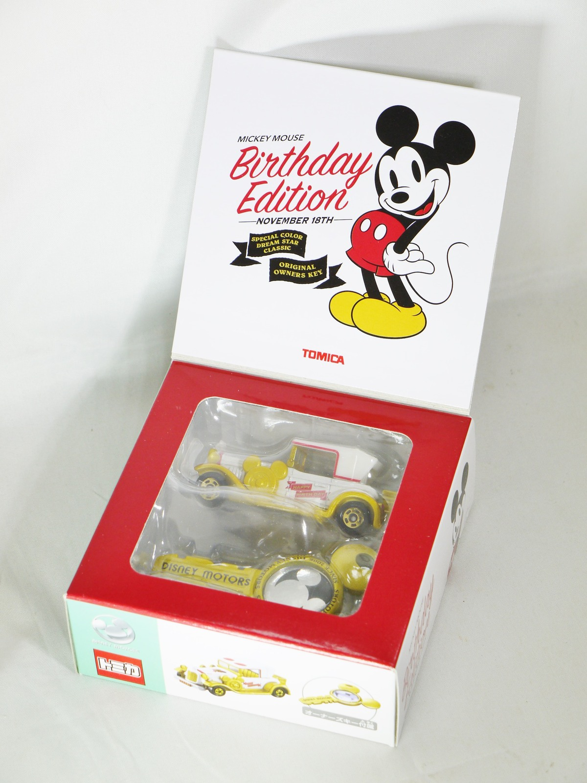 TOMICA Disney Motors Mickey Mouse Birthday Edition Nov 18th Dream Star Gold