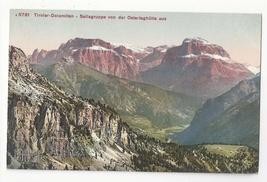 Switzerland Alps Tirol Sellagruppe von Ostertaghutte Vintage Postcard - $4.99