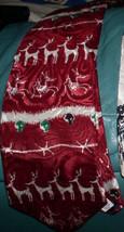 Reindeer Nightmare Before Christmas NMBC Red  & White Never Warn Tie - $19.99