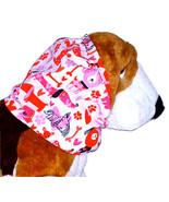 Dog Snood-Puppy Love Pink Red Sparkle Cotton Basset-Spaniel-Afghan-Sette... - $11.50