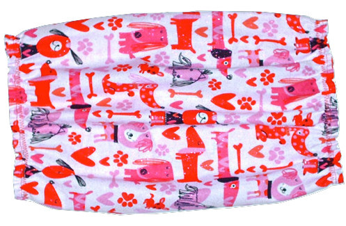 Dog Snood-Puppy Love Pink Red Sparkle Cotton Basset-Spaniel-Afghan-Setter-Small