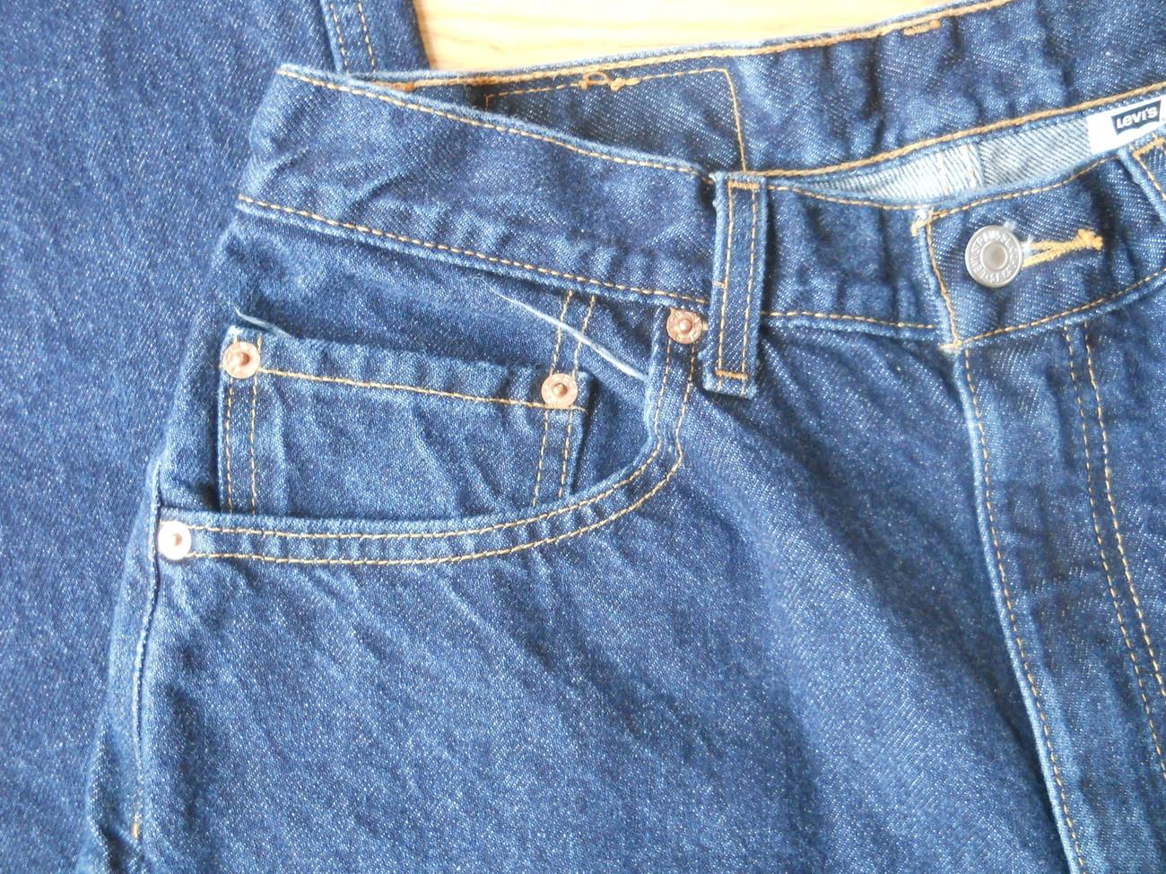 Men Levi Strauss Dark Blue Demin 505 Jeans W33 L30 Regular Fit Straight Leg