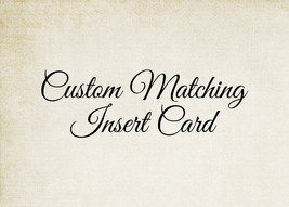 Custom, Matching Card - Reipe Card, Book Insert Card, Diaper Raffle Card - $0.28