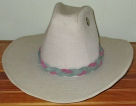 Custom Made MultiColor Pink & Green Braided Leather Hat-Band,  suede Lea... - $23.95