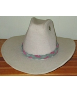 American Made! Multi Color Pink & Green Braided Leather Hat-Band,  suede... - $23.95