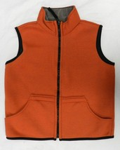 Arizona Burnt Orange Gray Reversible Childrens Kids Unisex Vest M 10-12 ... - $24.72
